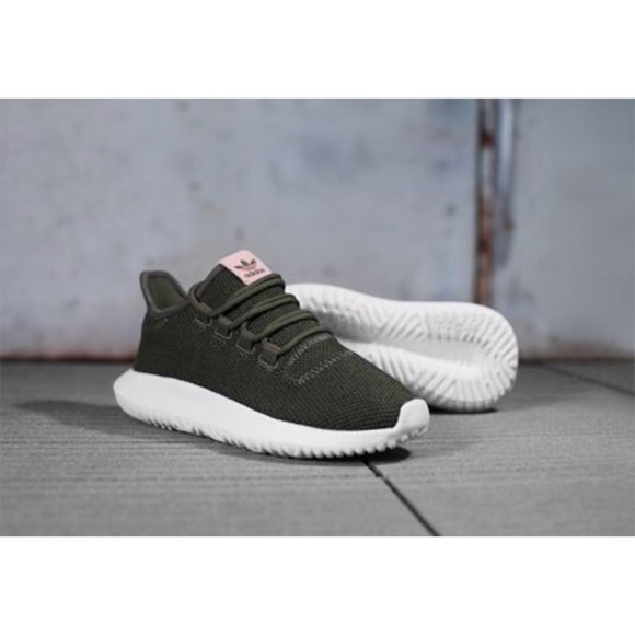 Adidas Original Tubular Shadow, Olive Green & Pink